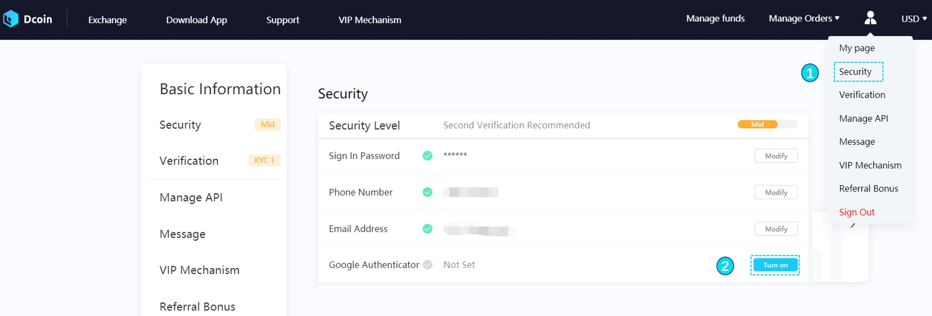How to Connect to Google Authenticator? – Dcoin HelpCenter